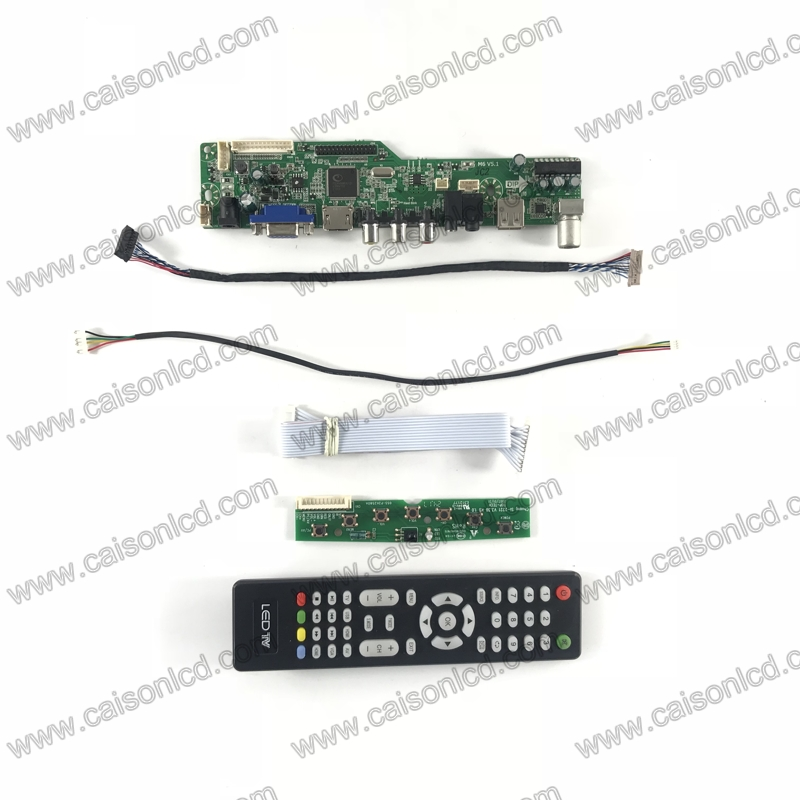 M6-V5.1 <font><b>LCD</b></font> <font><b>TV</b></font> controller <font><b>board</b></font> support <font><b>HDMI</b></font> <font><b>VGA</b></font> AUDIO <font><b>AV</b></font> <font><b>USB</b></font> <font><b>TV</b></font> for 15 inch 1024x768 G150XGE-L06 L04 L05 L07 G150XTN03.0 diy image