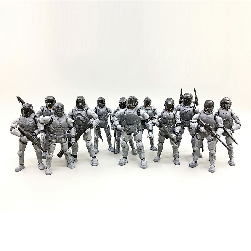 JOYTOY 1/27 model kits Action Figures Steel Ride Corps nude color army soldiers set [12pcs/lot] Unpainted Free shipping image