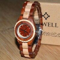 2018 ניו נחיתות נשים שעונים צמיד עץ BEWELL מותג עיצוב קל מתנה מושלמת עבור נשים Dropshipping 128AL