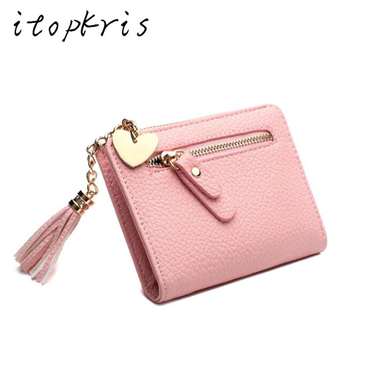 itopkris new fashion leather female small wallet short women coin pocket credit&ID card holder women clutch bag mini wallet case new 2017 pink hollow leaf short wallet women wallets small purse for girls credit id card holder money coin bag christmas gifts