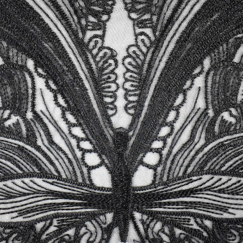 a2dbbd27b5 ... Black Butterfly Lace Collar Embroidered Neckline Trim Applique  Embellishments Vintage Trims Wedding Dress Accessories BW138