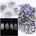 1 Bag 1.2mm Shining Micro Rhinestone Sharp Bottom 3D Manicure Tools Nail Art Tips for Nail Art Decorations