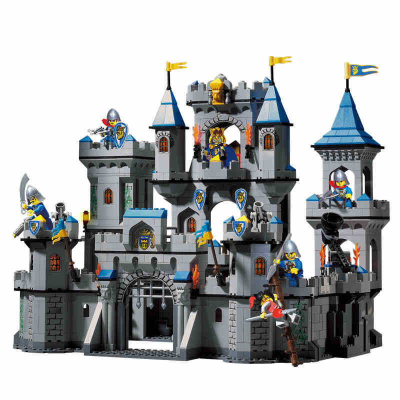 sermoido Medieval Lion Castle Knight Carriage Building Block 1393Pcs Educational Toys For Children Compatible With Lego 100pcs lot isd1820py dip 14 new origina