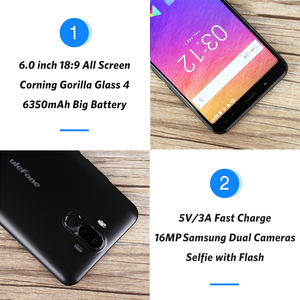 """Image 2 - Ulefone Power 3S 6.0"""" 18:9 FHD+ Android Mobile Phone MTK6763 Octa Core 4GB+64GB 16MP 4 Camera 6350mAh Face ID 4G Smartphone"""