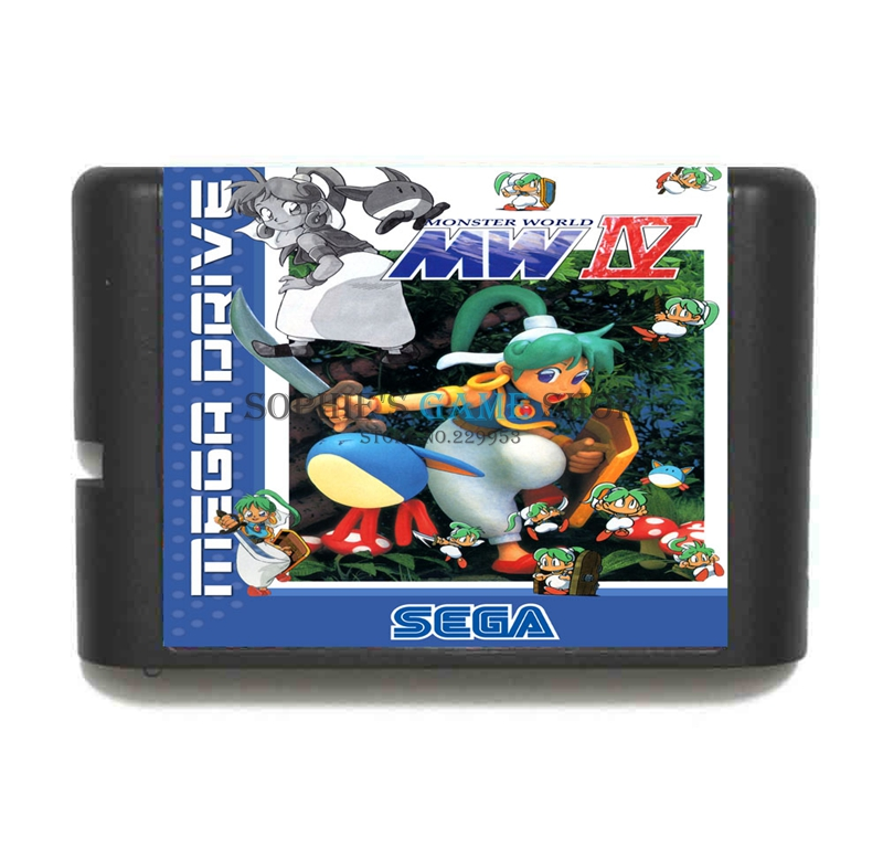 MonsterWorld IV Game Cartridge Newest 16 bit Game Card For Sega Mega Drive / Genesis System