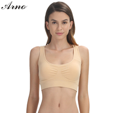 ARNO Sexy Bras For Women Solid Active Embroidery Sport Bra Top Push Up  Female Brassiere With Non-adjusted Straps Wire Free 0061