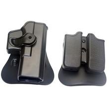 Охотничий IMI кобура для Glock 17 19 правая рука ремень петля лопастная Платформа тактический пистолет кобуры с журналом клип чехлы