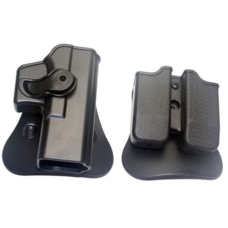 Jagd IMI Holster Glock 17 19 Rechts Hand Gürtelschlaufe Paddel-plattform Taktische Waffe Pistole Holster mit Magazin Clip Tasche schwarz