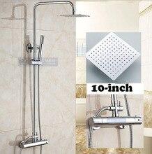 Ручным душем смесители термостатический хромированная настенное отделка крепление душа смеситель ручки