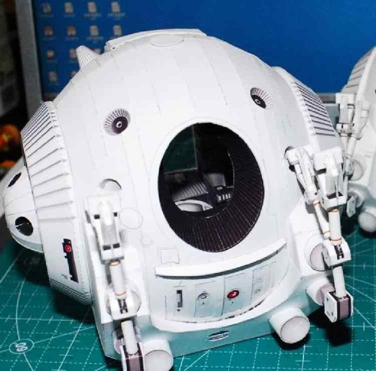 2001 Ruimte Odyssey Eva Podz Enkele Capsule 3D Papieren Model Diy Handgemaakte Papercraft Speelgoed