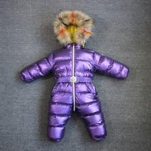 Orangemom -40 Designed Winter Jumpsuit For Girls Clothes , 1-4y 90% Duck Down Jacket Children Snowsuit Outerwear Boys Clothing