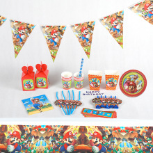 6pcs/lot New Super Mario theme party cups paper Candy box kids birthday decorations Bros supplies