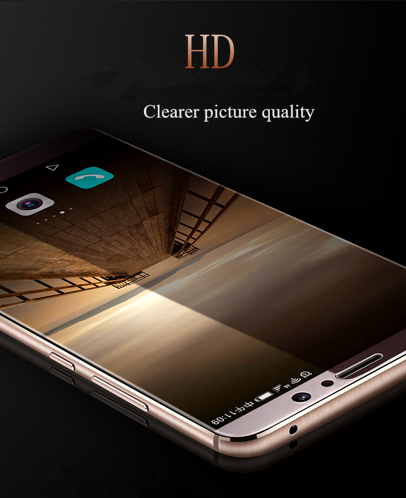 Image 4 - 2Pcs/lot Full Tempered Glass For Huawei Mate 9 Screen Protector Glass 0.26mm 9H Explosion proof Glass film for huawei mate 9-in Phone Screen Protectors from Cellphones & Telecommunications on