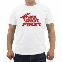 Han Geschoten Eerste Gedrukt mannen Katoen T-shirts Zomer Hiphop O Tops Cool Merk Kleding Mannelijke Tees Streetwear
