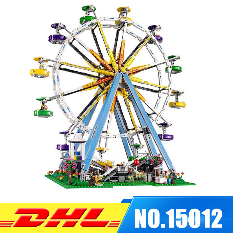 DHL More Stock 2518pcs LEPIN 15012 City Expert Ferris Wheel Model Building Blocks Bricks intelligence Toys Compatible With 10247 dhl lepin 02038 1767pcs city series the city square education building blocks bricks toys compatible 60097 in stock
