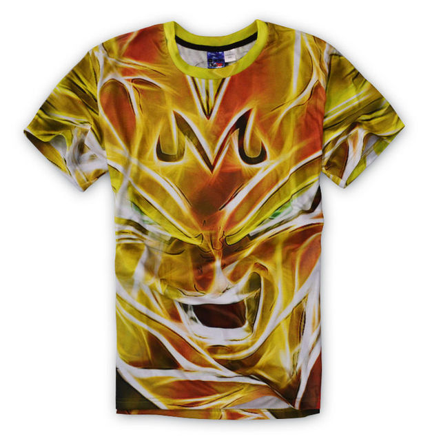 Women Men Cartoon T Shirt Anime Dragon Ball Z T-Shirt Fashion Mens 3D Print Goku/Super Saiyan Tee Camisetas Hombre