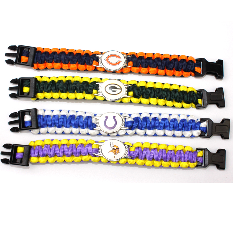 29# Baseball Team Cleveland Indians Paracord Survival Bracelet Baseball Fans Friendship Outdoor Camping Sports Bracelets