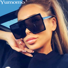 Yumomo New Square Sunglasses Women Oversized And Luxurious 2019 Fashion Luxury Brand Personlity Gradient Leopard Gafas UV400