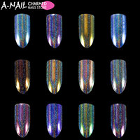 12 Colors Set Unicorn Aurora Holographic Chameleon Nail Glitter Powder Nail Pigments Dust Dazzling UV Gel