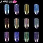 12 colors/set Unicorn Aurora Holographic Chameleon Nail Glitter powder Nail pigments Dust Dazzling UV Gel Nail art Decorations