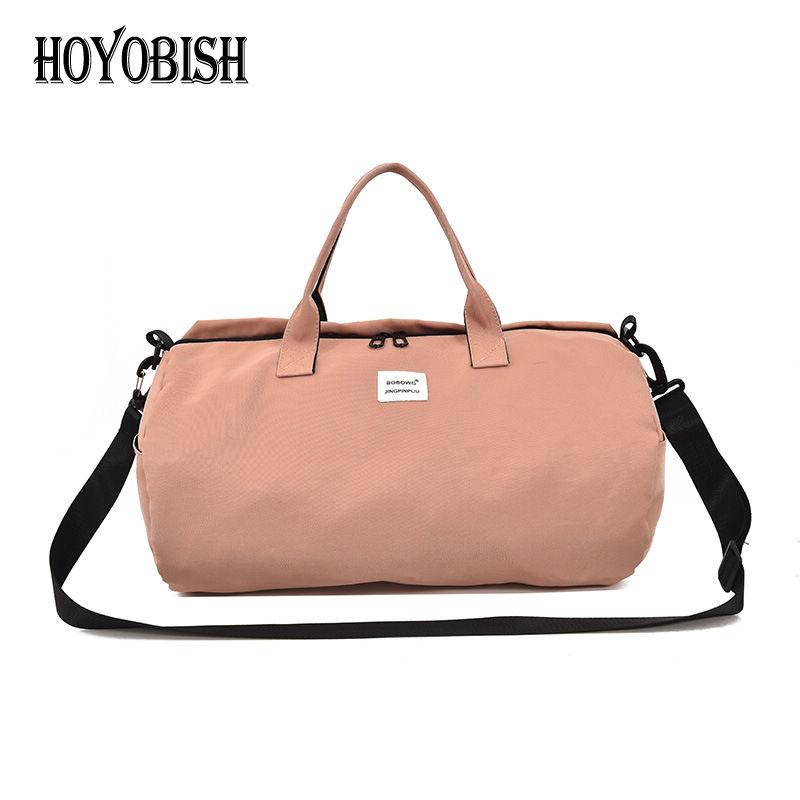 HOYOBISH Korean Style Women Travel Shoulder Bag Large Capacity Canvas Duffle Bag 2018 Men Travel Handbags bolsa de viagem OH305