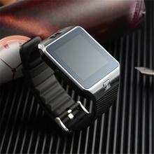 2016 Montre Smartwatch Bluetooth Con Cámara DZ09 Android Salud Podómetro Hombres Tarjeta de la Ayuda Sim Conector Digital de Reloj Caja de Regalo