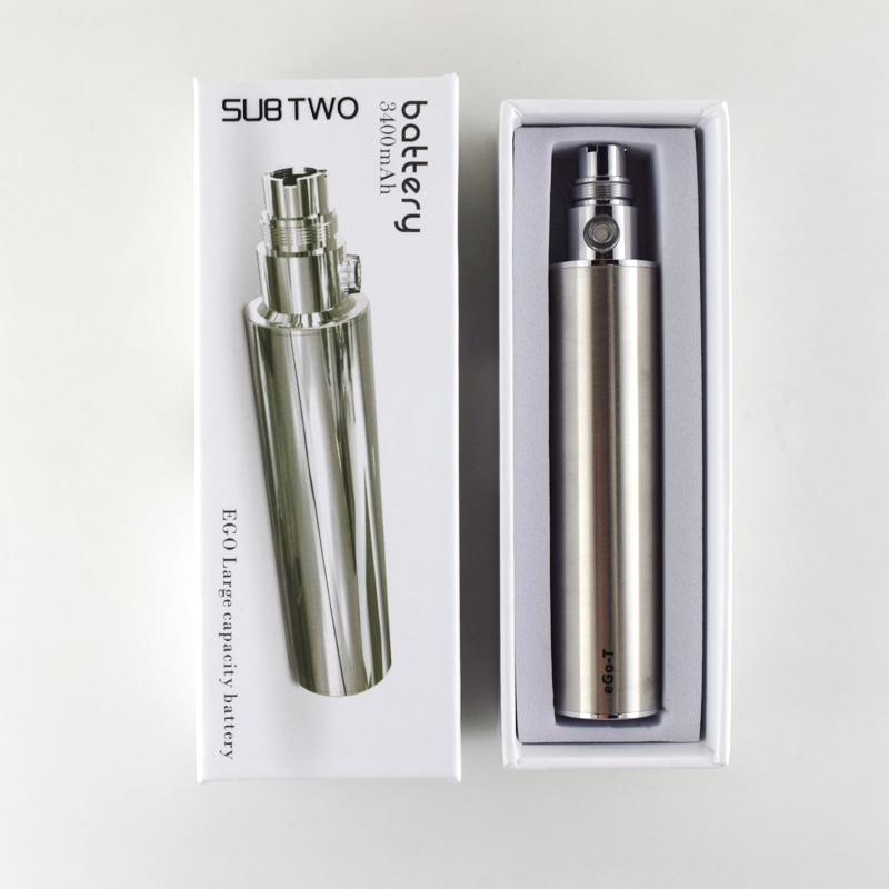 SUB TWO उच्च गुणवत्ता 3400mAh बैटरी ई सिगरेट बैटरी eGo चर वोल्टेज 3.2V-4.2V इलेक्ट्रॉनिक सिगरेट बैटरी विग