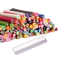 Hot Koop 3 Sets van 100 Stks Hot SaleD Ontwerpen Nail Art Fimo Canes Sticks Stokken Gel Tips Manicure Decoratie