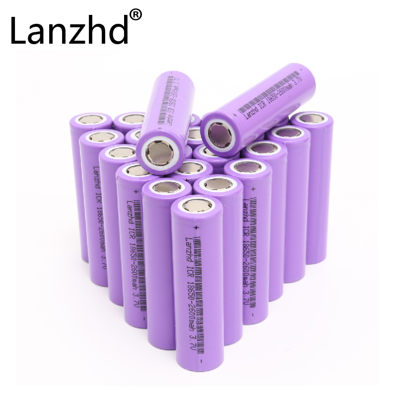24pcs 18650 Battery 3.7v Li ion rechargeable Batteries 26F Battery of 18650 for Laptop Toy Battery Electric and drill electronic-in Rechargeable Batteries from Consumer Electronics