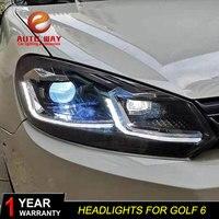 Car Styling Head Lamp for VW Golf 6 Headlights 2009 2012 Golf 6 LED Headlight MK6 MK 6 headlight DRL Signal Lamp Hid Bi Xenon
