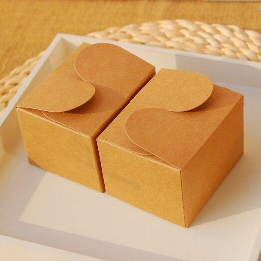 Small Natural Kraft paper gift box jewelry kraft box 75x6x5cm