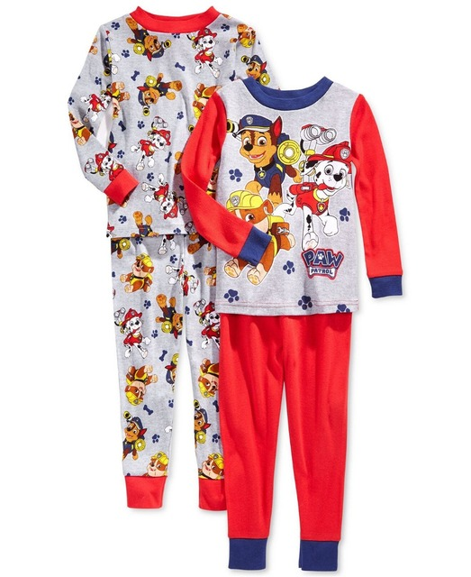 Long Sleeve Boys Sleepwear 2-7 years