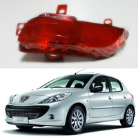 1Piece Rear Tail Bumper Fog Lamp Taillight Replacement Right Side For Peugeot 207