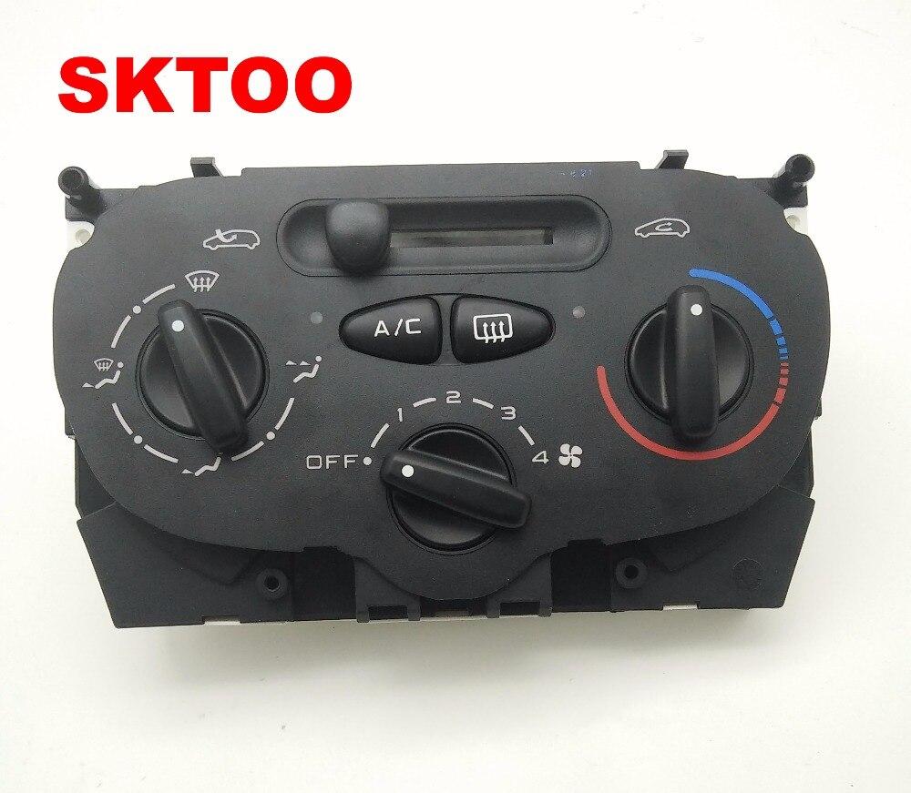 Interrupteur de climatisation de panneau de chauffage à ca d'air de haute qualité pour Peugeot 206 207 307 C2 citroën Picasso 9624675377X666633 H
