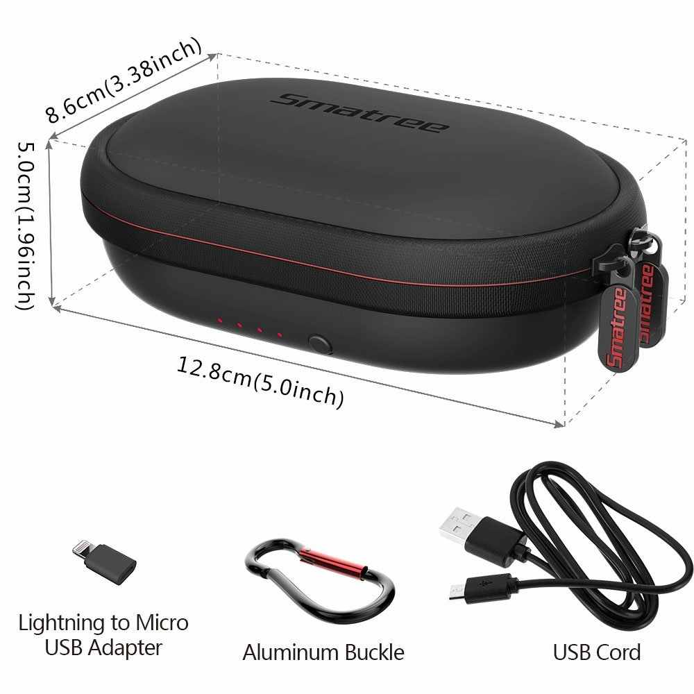 Smatree Wireless Charging Case Bluetooth Earphone Bag For Beatsx For Jabra For Sony For Jaybird Earphone Charger Boxes Pu Aliexpress