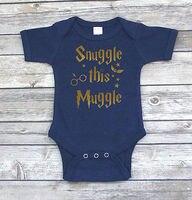 Cute Cotton Newborn Infant Baby Boys Girls Muggle Letter Short Sleeve Bodysuit Jumpsuit Clothes Outfits