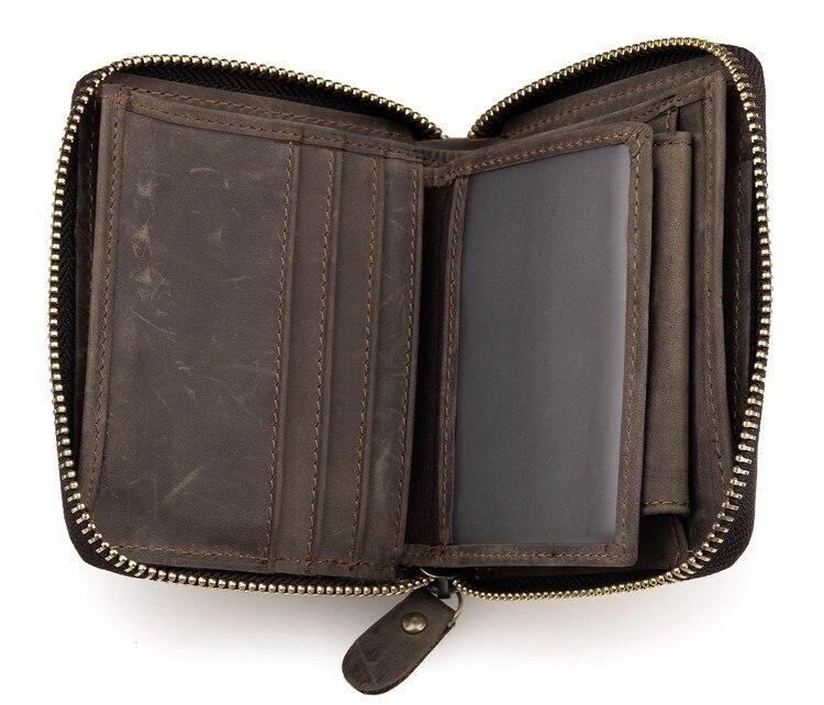 Free Shipping Original Design Handmade Genuine Leather Wallet For Men Money Pocket 8083R