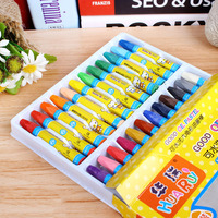 24 Color Oil Painting Stick Painting Children S Brush Wholesale Water Soluble Can Wash Factory Direct