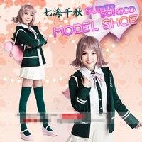 DANGANRONPA 2: GOODBYE DESPAIR Nanami Chiaki cosplay costume with bag shoes