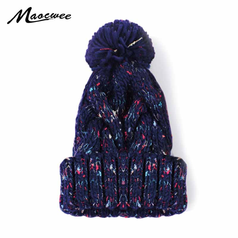 2018   Skullies     Beanies   Women Winter Hat For Women Hat   Beanies   Classic Fashion Knit Female Cap   Beanie   Headgear Warm Cap Gorros