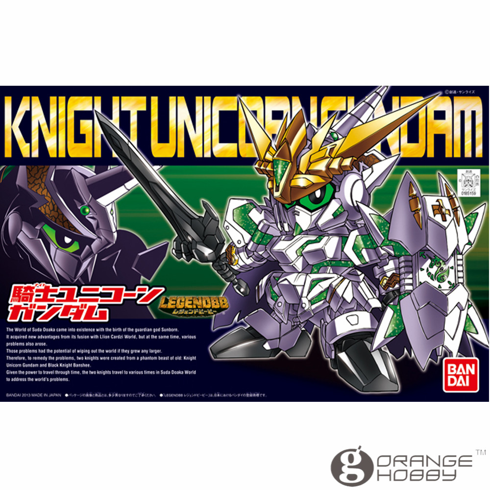 OHS Bandai SD BB 385 Q-Ver Knight Unicorn Gundam Mobile Suit Assembly Model Kits oh free shipping 10pcs 100% new si3017 ks