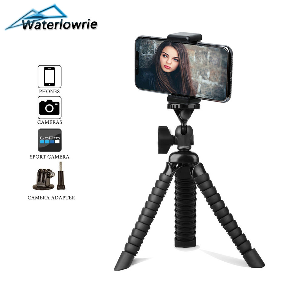 Waterlowrie Mobile phone Tripod Spider Flexible Octopus Digital Camere Tripe for iPhone samsung Huawei Xiaomi yi gopro SJCAM ...