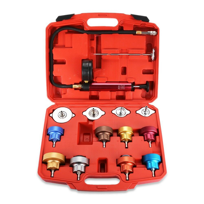 14 piece Metal Water Tank Leak Detector Tool Car Water Tank Pressure Detector Water Tank Leak Detector Kit