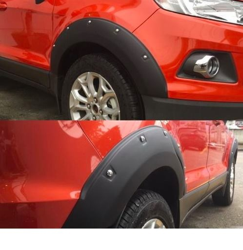 2017 ECOSPORT FENDER FLARE ABS Auto Car Wheel Arch eyebrow stripe,Fender flare for ECOSPORT FENDER FLARE TRIMS 2012-2015