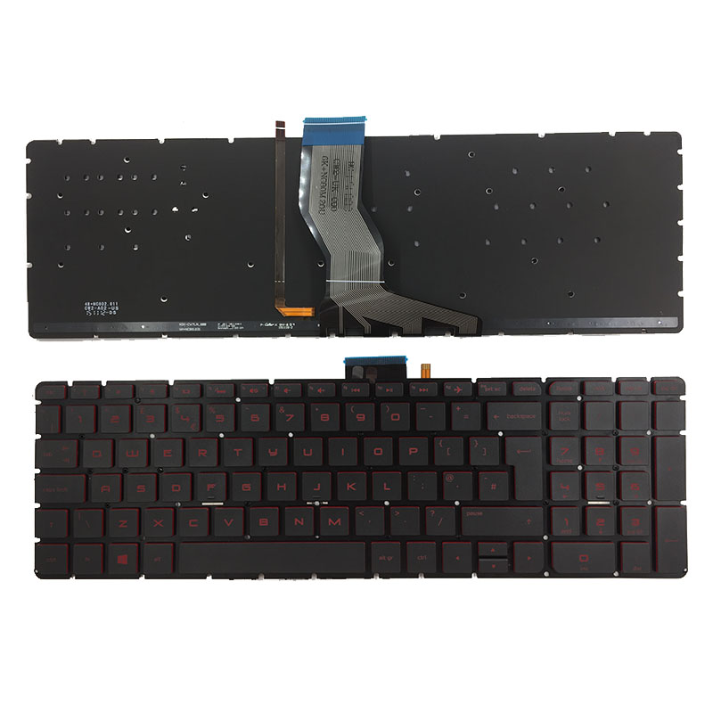UK laptop Backlit Keyboard for HP Omen 17-W000 17-W100 17-W200 17t-w000 17t-w100 17t-w200 17-w001la 17-w101la 17-W 17-w202la new for hp omen 17 an011dx 17 an012dx 17 an013dx 17 an053nr series laptop us english keyboard with backlit red letters