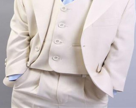 2018 traje Homme marfil traje 3 piezas (chaqueta + Pant + Vest + Tie) curso  del novio Terno Masculino Trajes De Hombre juego De los niños en Trajes de  La ... 0b6bb379374