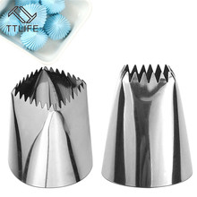 TTLIFE Large Size Square Icing Piping Nozzles Cake Decorating Pastry Tip Sets Fondant Mold Tools 2 Sizes