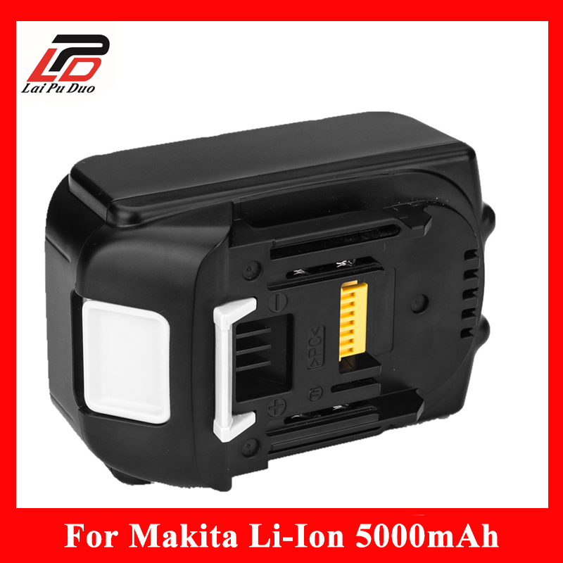 100% original Replacement 18v 5000mah Power Tool Battery for Makita BL1840 LXT400 BL1850 194205-3 BL1830 Lithium Ion batteries new professional violin use 4 4 full size adjustable maple wood violin shoulder rest support for violin parts