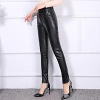 Women Genuine Leather pants female trousers large size pencil pants thin leggings Slim boots pants office lady dress ! S 4XL