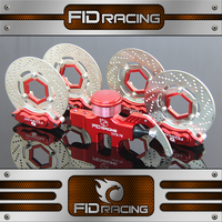 FID CNC Alloy 4 Wheel Hydraulic Brake Set 8 Piston Calipers Structure For HPI KM ROVAN Baja 5B SS T 1/5 Gas Rc Car Upgrade Parts